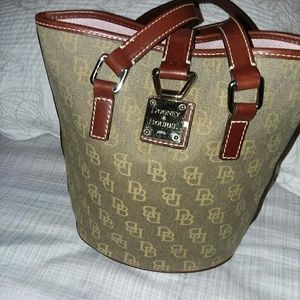 Authentic Donney & Burke Leather Bucket Purse